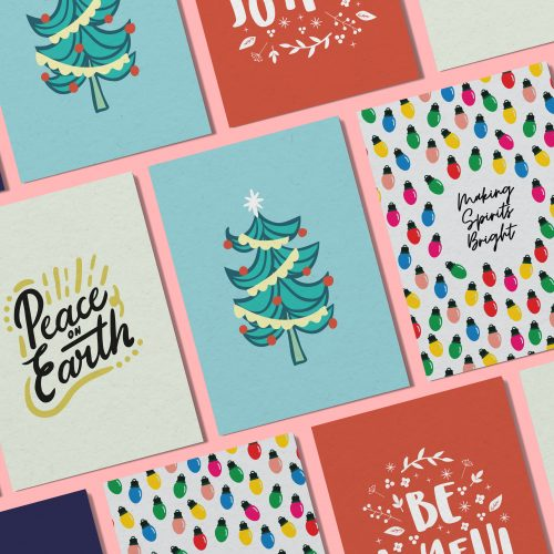Christmas Notecards.Christmas Cards Words With Heart